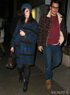 Katy Perry and John Mayer are seen leaving ABC Kitchen in NYC after a romantic dinner date. The pair bundled up as they left the restaurant ...