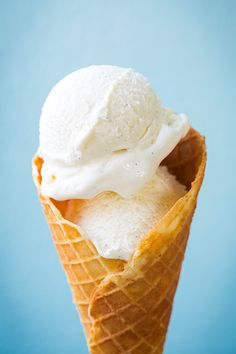 Vanilla Bean Ice Cream - this was some of the best ice cream cones I've ever had! So creamy and rich.