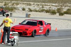 John Lazorack III's LS-powered Conquest locks up the tires on the Wilwood Speed/Stop Challenge at the 2013 #OUSCI