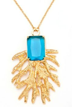 Our #trinaturk Coral & Gem Necklace...