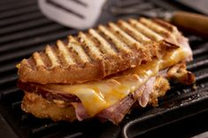Smoky Grilled Ham and Cheese recipe