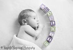 Cute idea. Newborn photo