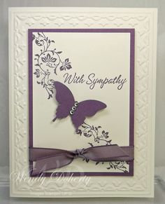 butterfli, wedding cards, sympathy cards, wedding ideas, simpl sympathi, splitcoaststampers cards, paper crafts, vintage vogue, stamp style