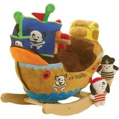 Rokabye Ahoy Doggie Pirate Ship Rocker $96