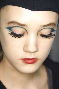 face makeup, eye makeup, fall 2008, eyeart, fall looks, lip colors, miu miu, eye art, eyes