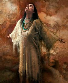 Cherokee Indian Women | Cherokee woman praying