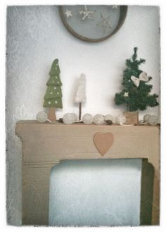 Chemin e en carton on pinterest - Fausse cheminee en carton pour noel ...
