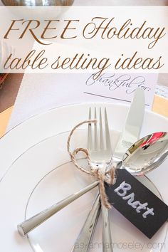 Free holiday table setting ideas - Ask Anna