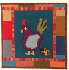 "Egg Drop, 16 x 16"", by Yvonne Porcella.  Fiber Shots to Benefit San Jose Museum Quilts and Textiles"