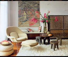 """Create a second seating area or reading nook. In a large living room, even after filling out a main seating arrangement, there will likely be an odd corner that remains unfilled. If you put as much effort into this corner as into the """"main"""" seating area, it may well become your favorite hangout spot."""