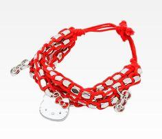 Hello Kitty Bracelet: Red Silver