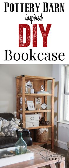 DIY Pottery Barn Knockoff Bookcase Tutorial... LOVE this!!