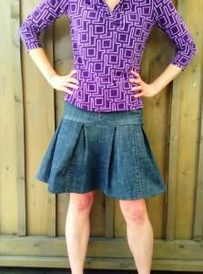 DIY Clothes DIY Refashion DIY Jeans to Skirt Turn a pair of jeans into a cute pleated skirt in 9 easy steps