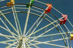 Ferris wheel at the Santa Cruz Beach Boardwalk #RideColorfully