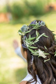 Sweet floral crown on this flower girl  Photography: Altura Studio - alturastudio.com  Read More: http://www.stylemepretty.com/northwest-weddings/2014/04/22/elegant-lakeside-wedding-at-black-butte-ranch/