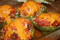 Creole Stuffed Bell Peppers