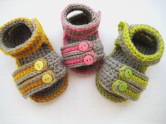 Sporty Sandals Crochet Baby Booties Pattern by CrochetBabyBoutique, $4.99