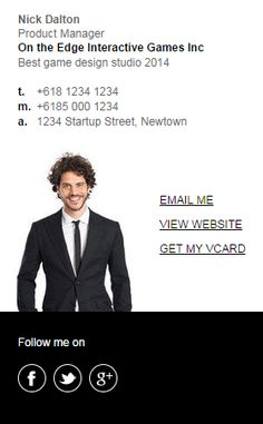 3 new email signature templates will be added in September 2014! This is the first of the Market Me Series. Change colors to any color to suit your business branding. More coming soon! http://emailsignaturerescue.com/market-me-series-email-signature-template