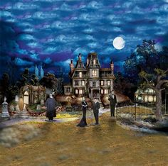 The Addams Family Halloween Village Collection: 'Addams Mansion' ($59.99)