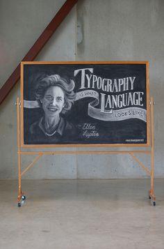 23 Weekly Chalkboard Quotes  by DANGERDUST, via Behance