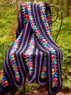 I love the colors in this mile a minute afghan.