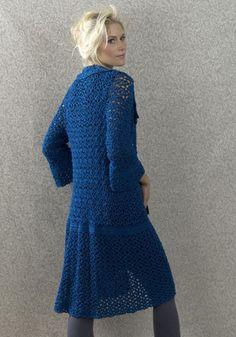 #Free Pattern: Amsterdam Coat #crochet  Crochet Jacket #2dayslook #fashion #nice #CrochetJacket  www.2dayslook.com skirt, crochet sweatersopen, woman fashion, free pattern, fashion outfits, amsterdam coat, crochet patterns, yarn, coat crochet