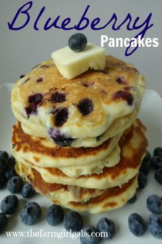 Blueberry Buttermilk Pancakes from How Does Your Garden Grow? www.thefarmgirlgabs.com