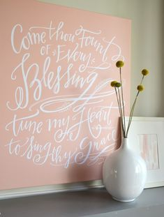 Lindsay Letters Canvas, so pretty