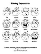 Expressive Cartoon Monkey