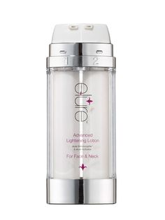 For dark spots: Elure Advanced Skin Lightening Lotion dissolves dark spots in four weeks. Unlike hydroquinone, this brightener isn't at all irritating. #AntiAging
