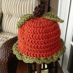 Northern Girl Stamper & Boutique: PUMPKIN CROCHET HAT ~  Free Pattern
