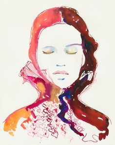 Print of Watercolour Fashion Illustration. Titled - Heartink 2 via Etsy