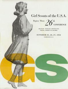 :: Alvin Lustig, 1954 Girl Scouts Convention Program ::
