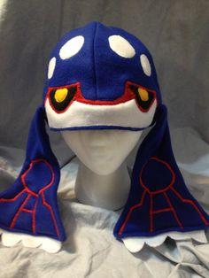 Fleece Kyogre Pokemon Hat. $27.00, via Etsy.
