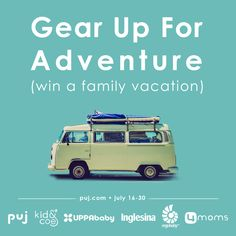 Enter to win a family vacation giveaway from Puj!