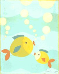 fish canvas art