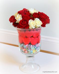 a super easy Valentine's Day centerpiece that your kids will love!