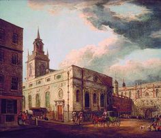 St. Lawrence Jewry and the Guildhall by Thomas Malton II