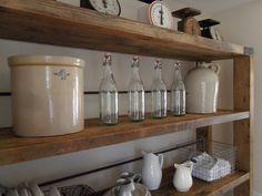 pantry shelving - 2x4s, 2x10s, brackets