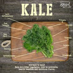 Reasons to eat more #kale! :) #recipe #nutrition #motivation