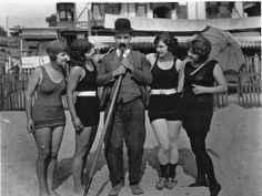 Mack Sennett and his Bathing Beauties. 1915.