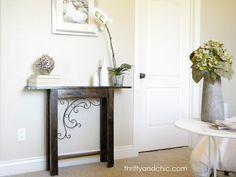Thrifty and Chic: DIY Custom Sofa Table