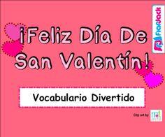 Valentine's Day SPANISH Vocabulary SMART BOARD Game