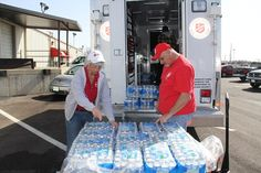 Salvation Army and Red Cross workers work to address needs following #LeapDay tornado in #Branson.