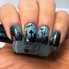 Going to the graveyard this weekend? Here are the nails you'll need!