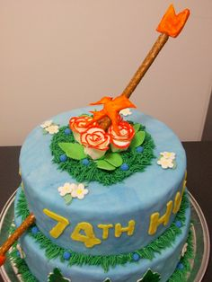Once again, the Hunger Games Inspired cake for my final