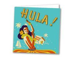 vintage hula girl