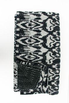 ikat black quilt