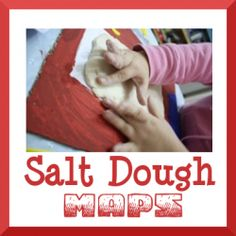salt dough maps for homeschool geography projects