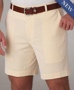Corded Cotton Shorts  Lemon